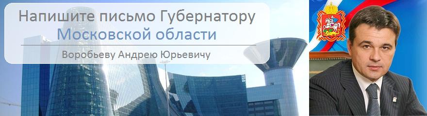 Написать письмо губернатору Московской области Воробьеву